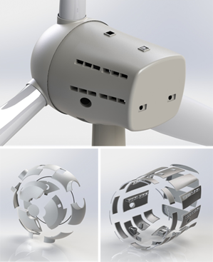 3D model of the modular nacelle cover.