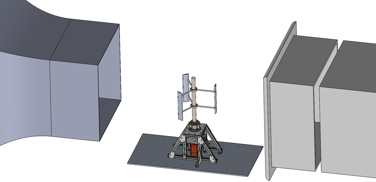 CAD model of the test rig.
